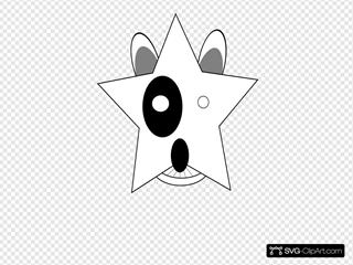 Star Bullterrier Head