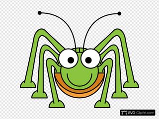 Studiofibonacci Cartoon Grasshopper