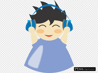 Boy With Headphones 2