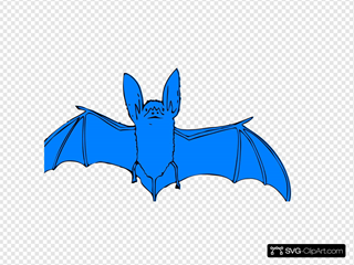 Blue Bat SVG Cliparts