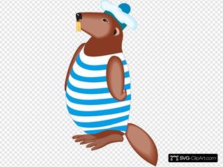 Beaver In Swimsuit