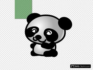 Panda Green Background Smaller