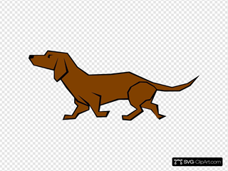 Simple Daschund Drawing In Color