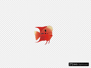 Flowerhorn Fish SVG Cliparts