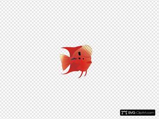 Flowerhorn Fish SVG Clipart