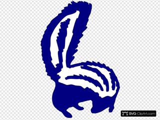 Blue Skunk Looking Back