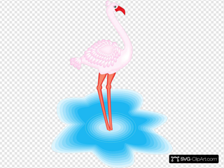 Feathered Flamingo Clipart