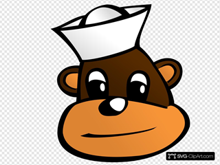 Sailor Monkey SVG Clipart