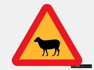 Warning Sheep Roadsign