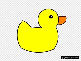 Yellow Duck Clipart