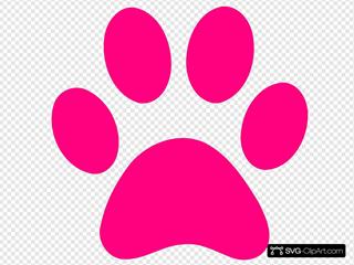 Pink Dog Print