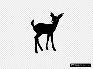 Fawn SVG Clipart