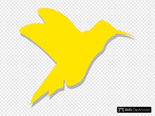 Hummingbird Silhouette SVG Clipart