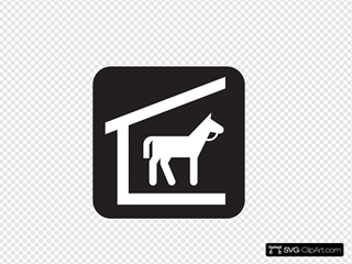 Stable Black SVG Cliparts