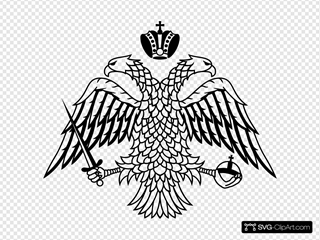 Double Headed Eagle Byzantine Empire Coat Of Arms SVG Clipart