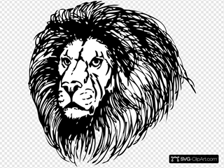 Lion 3 SVG Cliparts