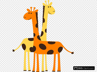 Two Giraffes With #2