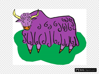 Curly Purple Bull