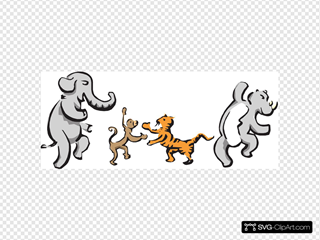 Dancing Animals SVG Clipart