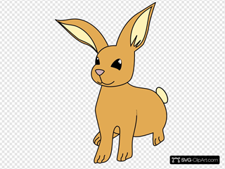 Brown Cartoon Bunny