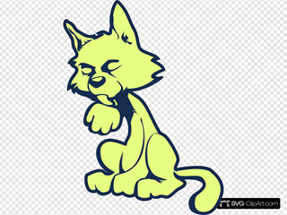 Green Cat SVG icons