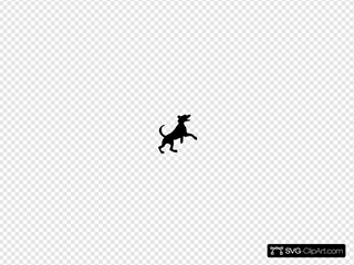 Jumping Dog SVG Clipart