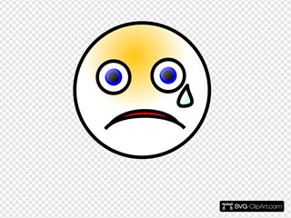 Crying Smiley SVG Clipart
