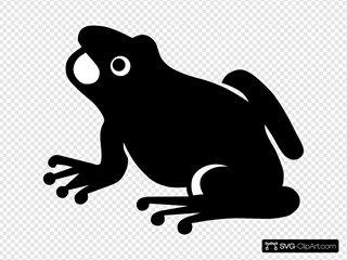 Frog Silhouette SVG Clipart