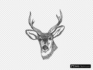 Deer Head SVG Cliparts