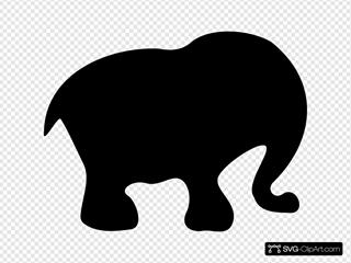 Cartoon Elephant Silhouette