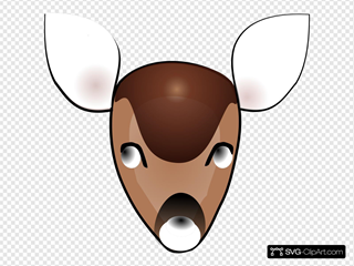 Deer Head SVG Clipart