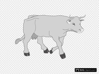Gray Walking Cow