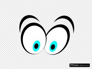 Animated Blue Cartoon Eyes SVG Clipart