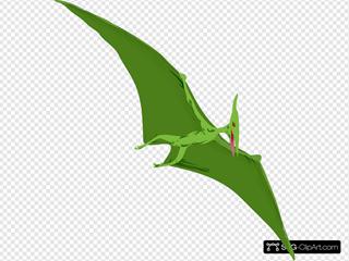 Flying Green Dinosaur