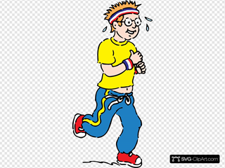 Jogging Boy SVG Cliparts