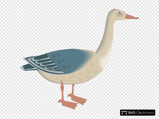 Standing Digital Goose
