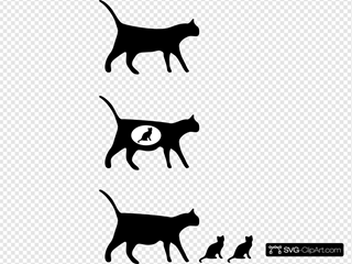 Cat Icons SVG Clipart