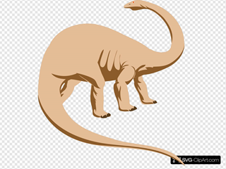 Peach Colored Dinosaur