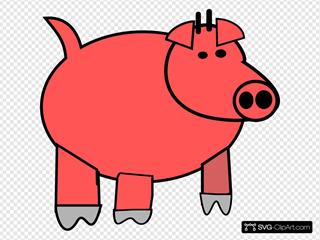 Cartoon Pig 1