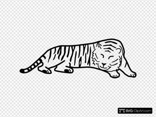 Sleeping Tiger Outline