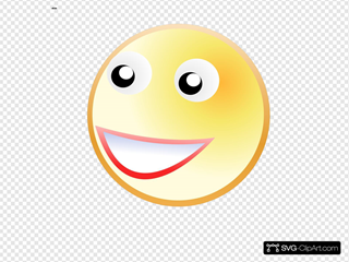 Smile Face SVG Clipart