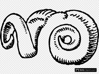 Ram Horns Clipart