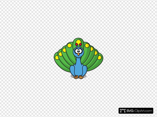 Cartoon Peacock SVG icons