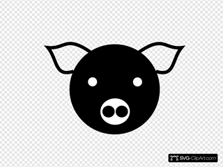 A Simple Pig SVG Clipart