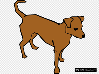 Dog 06 Drawn With Straight Lines