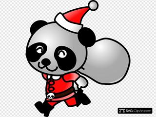 Santa Panda 2 SVG Clipart