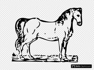 Horse Woodcut