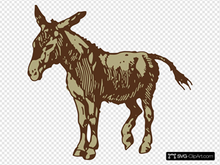 Brown Donkey SVG Clipart