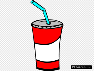 Soft Drink In A Cup SVG Clipart
