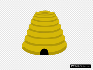 Bee Hive SVG Clipart
